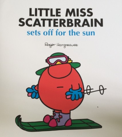 Little miss scatterbrain-sets off for the sun