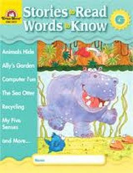 Stories to Read Words to Know Level G Student Boo
